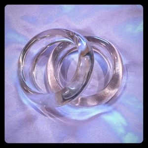 Two clear acrylic /lucite bangles